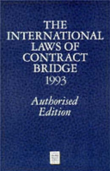 International Laws of Contract Bridge 1993, Paperback / softback Book