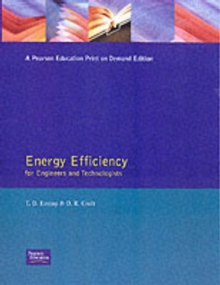 Energy Efficiency : For Engineers and Technologists, Paperback Book