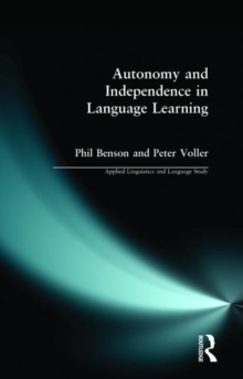 Autonomy and Independence in Language Learning, Paperback / softback Book