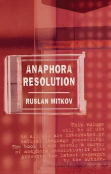 Anaphora Resolution, Paperback / softback Book