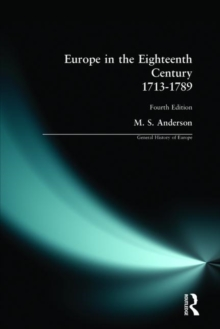 Europe in the Eighteenth Century 1713-1789, Paperback Book