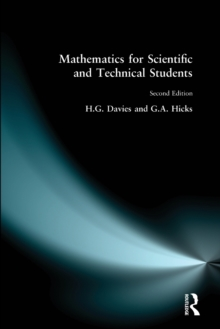 Mathematics for Scientific and Technical Students, Paperback Book