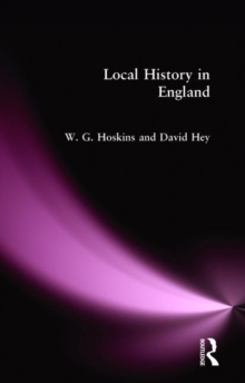 Local History in England, Paperback Book