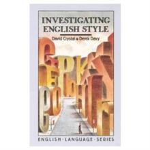 Investigating English Style, Paperback Book