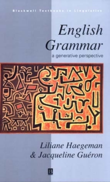 English Grammar : A Generative Perspective, Paperback / softback Book