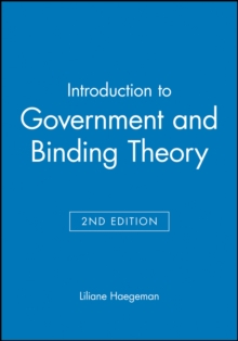 Introduction to Government and Binding Theory 2E, Paperback Book