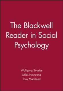 The Blackwell Reader in Social Psychology, Paperback / softback Book