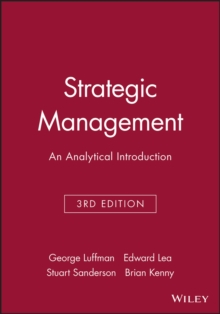 Strategic Management : An Analytical Introduction, Paperback / softback Book