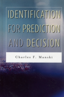 Identification for Prediction and Decision, Hardback Book