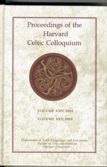 Proceedings of the Harvard Celtic Colloquium, Hardback Book