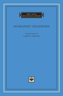 Humanist Tragedies, Hardback Book