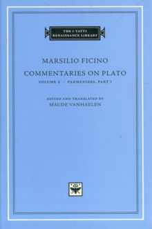 Commentaries on Plato, Parmenides : v. 2, Pt. 1, Hardback Book