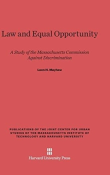 Law and Equal Opportunity, Hardback Book