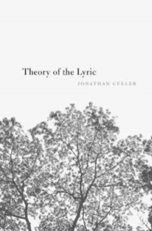 Theory of the Lyric, Paperback / softback Book