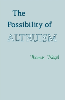 The Possibility of Altruism, Paperback / softback Book