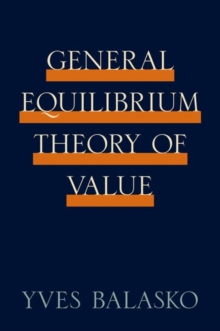 General Equilibrium Theory of Value, Hardback Book