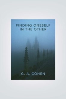 Finding Oneself in the Other, Hardback Book