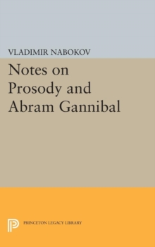 Notes on Prosody and Abram Gannibal, Paperback / softback Book