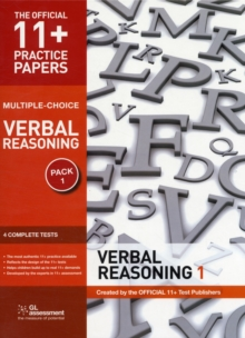 11+ Practice Papers, Verbal Reasoning Pack 1, Multiple Choice : Test 1, Test 2, Test 3, Test 4, Pamphlet Book