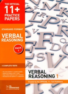 11+ Practice Papers, Verbal Reasoning Pack 1, Standard Format : Test 1, Test 2, Test 3, Test 4, Pamphlet Book