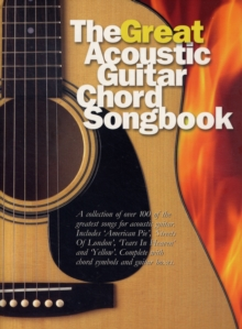 The Great Acoustic Guitar Chord Songbook, Paperback Book