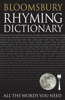 Bloomsbury Rhyming Dictionary, Paperback / softback Book