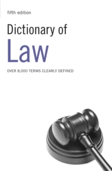 Dictionary of Law, Paperback / softback Book