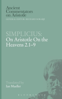 "On Aristotle ""On the Heavens 2.1-9"", Hardback Book"