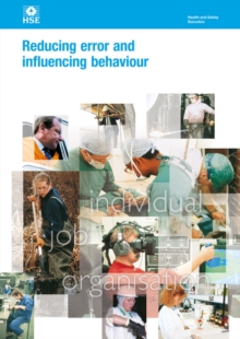 Reducing error and influencing behaviour Revised, Paperback Book