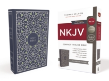 NKJV, Thinline Bible, Compact, Cloth over Board, Blue/Green, Red Letter Edition, Comfort Print, Hardback Book