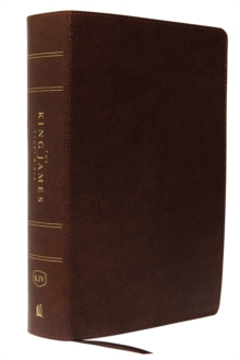 KJV, The King James Study Bible, Bonded Leather, Brown, Red Letter, Full-Color Edition, Leather / fine binding Book