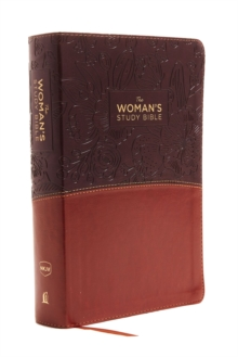 The NKJV, Woman's Study Bible, Leathersoft, Brown/Burgundy, Red Letter, Full-Color : Receiving God's Truth for Balance, Hope, and Transformation, Leather / fine binding Book
