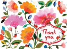 Kim Parker Floral Thank You Glitz Notecards, Cards Book