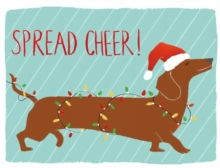 Dachshund Spread Cheer Holiday Embellished Notecards, Cards Book