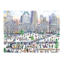 Michael Storrings Winter in Central Park 1000 Piece Puzzle, Game Book