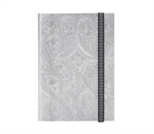 B5 Paseo Embossed Notebook Silver, Notebook / blank book Book