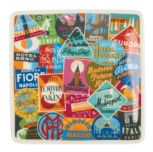 Vintage Travel Labels Square Tray, Other merchandise Book