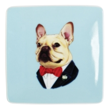Berkley Bestiary Frenchie Portrait Square Poreclain Tray, Other merchandise Book