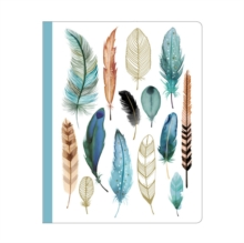 Feathers Deluxe Spiral Notebook, Hardback Book