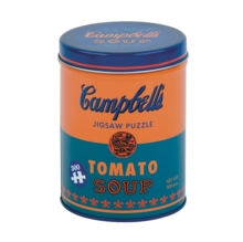 Andy Warhol Soup Can Orange 300 Piece Puzzle, Jigsaw Book