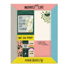 Anne Bentley Inspired Life Desktop Sticky Notes Box, Stickers Book
