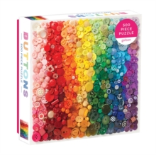 Rainbow Buttons 500 Piece Puzzle, Jigsaw Book
