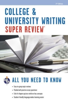 College & University Writing, Paperback Book