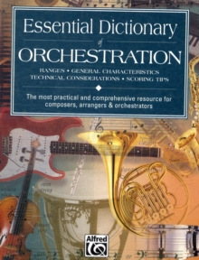 ESSENTIAL DICTIONARY OF ORCHESTRATION,  Book