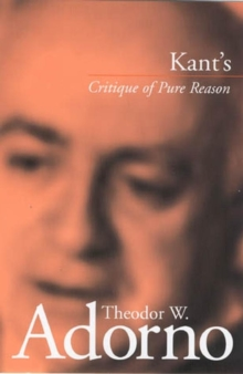 Kant's Critique of Pure Reason, Hardback Book