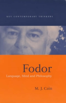 Fodor : Language, Mind and Philosophy, Hardback Book