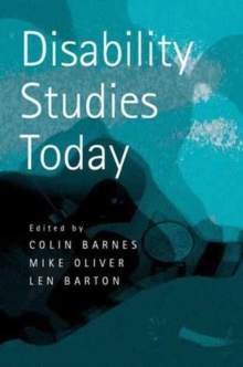 Disability Studies Today, Paperback Book