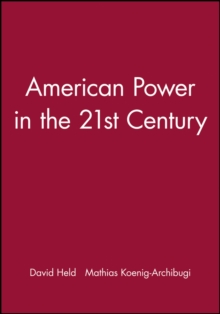 American Power in the 21st Century, Paperback / softback Book