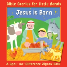Jesus is Born : A Spot-the-Difference Jigsaw Book, Board book Book