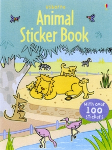 Animal Sticker Book with Stickers, Paperback Book
